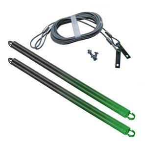 Ressorts et câbles de sécurité pour porte de garage Ideal Security. 120 lb, vert, paquet de 2