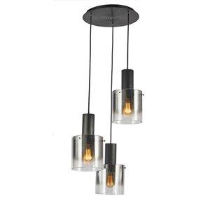 Lustre à 3lampes Henley de Artcraft Lighting, noir