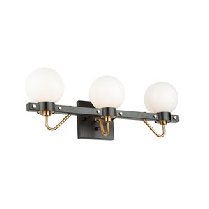 Artcraft Lighting Chelton 3-Light Vanity Light - Black