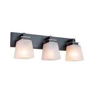 Applique murale à 3 lampes Eastwood de Artcraft Lighting, nickel
