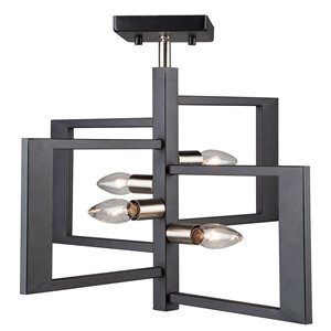 Luminaire semi-suspendue à 4lampes Sutherland de Artcraft Lighting