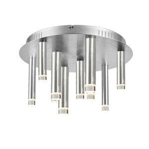 Plafonnier 9 lumières Galiano de Artcraft Lighting, aluminium