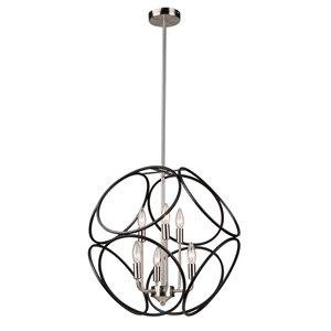 Artcarft Lighting Sorrento 6-Light Chandelier - Matte Black