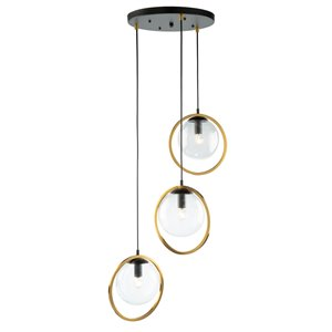 Artcraft Lighting Lugano 3-Light Cord Pendant Light