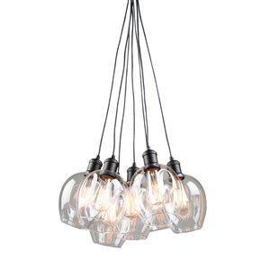 Artcraft Lighting Clearwater 7-Light Cord Chandelier