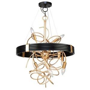 Artcraft Lighting Galaxy 6-Light Chandelier - Black/Brass