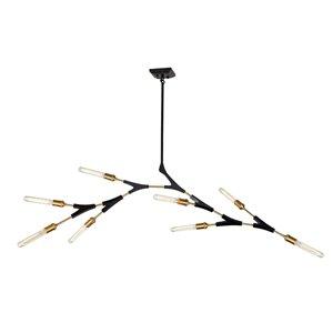 Artcraft Lighting Filiali 10-Light Chandelier - Black