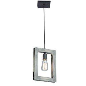 Artcraft Lighting Gatehouse Pendant Light - Wood/Black
