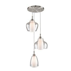 Artcraft Lighting Decanter 3-Light Spiral Pendant Light