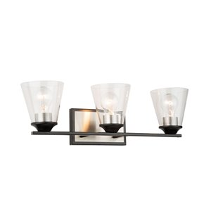 Artcraft Lighting Wheaton 3-Light Wall Light - Black