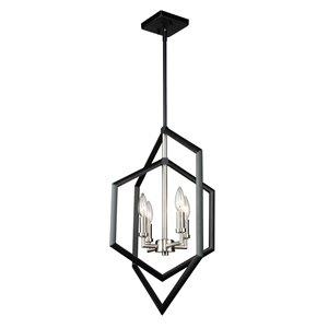Lustre à 4lampes Preston de Artcraft Lighting, noir mat