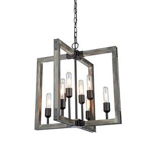 Lustre à 8lampes Gatehouse de Artcraft Lighting, noir