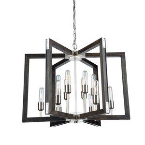 Artcraft Lighting Gatehouse 12-Light Chandelier - Pine
