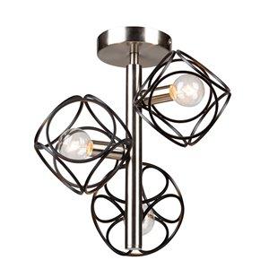 Semi-plafonnier à 3lampes Sorrento de Artcraft Lighting