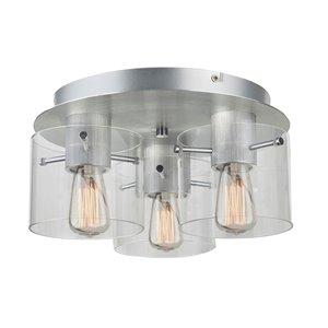 Plafonnier à 3lampes Henley de Artcraft Lighting, aluminium