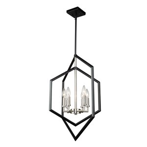 Lustre à 6lampes Preston de Artcraft Lighting, noir mat
