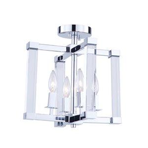 Semi-plafonnier à 4 lumières Carlyle de Artcraft Lighting