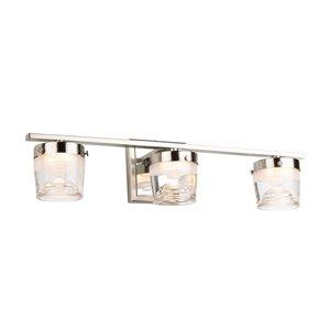 Artcraft Lighting Newbury 3-Light LED Wall Light - Nickel