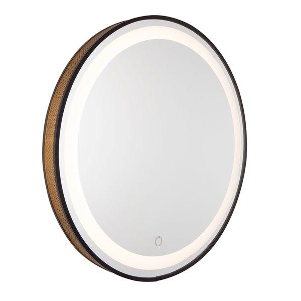 Miroir rond à mailles et DEL Reflections de Artcraft Lighting