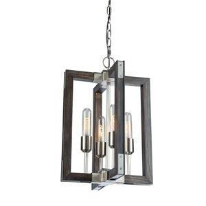 Lustre à 4lampes Gatehouse de Artcraft Lighting, pin