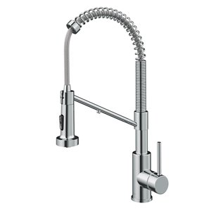 Kraus Bolden 2-in-1 Water Filter Kitchen Faucet - Deck Mounted - 1 Handle - Chrome Gloss Finish