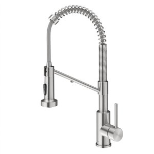 Kraus Bolden 2-in-1 Water Filter Kitchen Faucet - Deck Mounted - 1-Handle - Spot Free Stainless Steel