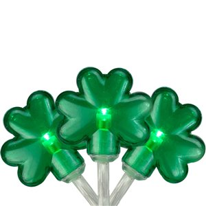 Northlight Mini St Patrick's Day Shamrock Lights with Timer - 20 Lights - Clear
