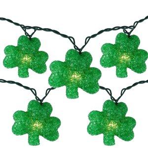 Northlight Irish Shamrock St Patrick's Day String Lights - 7.25 ft. - Green