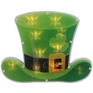 Northlight LED Irish St.Patrick's Day Leprechaun Hat Window Silhouette - 12.5-in