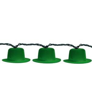 Northlight Irish Leprechaun St. Patrick's Day Hat Lights - Set of 10