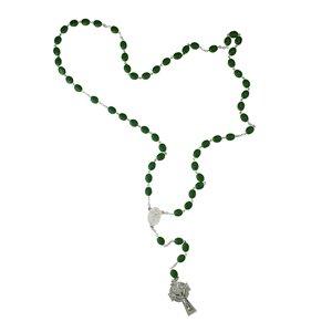 Northlight Saint Patrick Irish Glass Beaded Rosary - 25-in