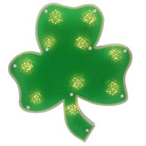 Northlight St.Patrick's Day Irish Shamrock Window Decoration - 14-in - Green