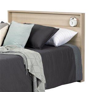 Tête de lit avec tablette Kanagane de South Shore, double/grand, orme naturel