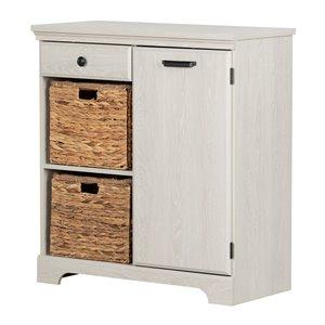 South Shore Versa 1-Door Storage Cabinet - Winter Oak