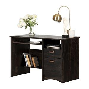 South Shore Gascony Desk - 46-in - Rubbed Black