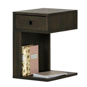 Table de chevet à 1 tiroir Sweedi de South Shore, bois noir