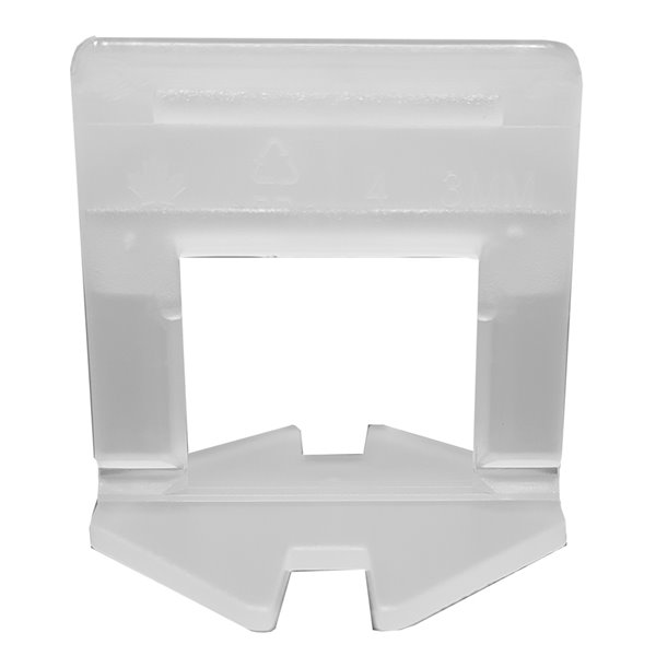 Pince pour niveler carreaux de type L de Tooltech, 0,5 po x 2 po, 3 mm, 500 mcx