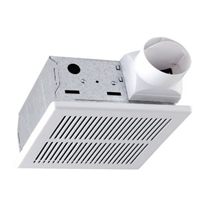 LightWay 70 CFM White Bathroom Fan - 4.0 Sones - ENERGY STAR Certified