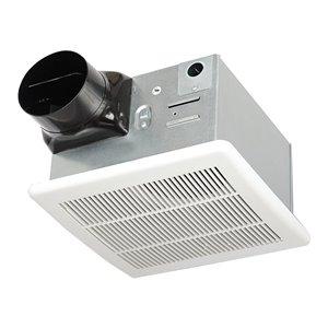 LightWay 90 CFM Ultra-Quiet White Bathroom Fan - 1.5 Sones - ENERGY STAR Certified