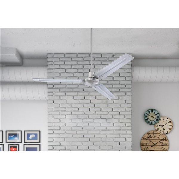 Ventilateur de plafond Jax de Westinghouse Lighting Canada avec télécommande, 3 pales, nickel brossé