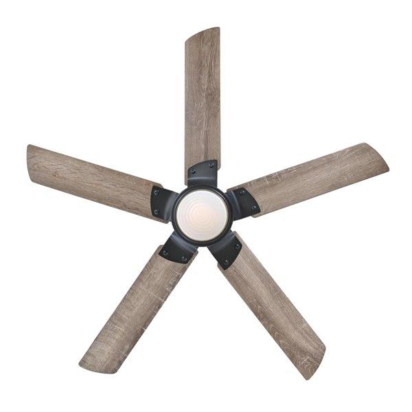 Ventilateur de plafond Morris de Westinghouse Lighting Canada avec télécommande, lumière DEL, 5 pales, fer