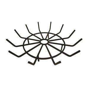 Grille pour bûches en forme de roue de Pleasant Hearth, acier, 28 po