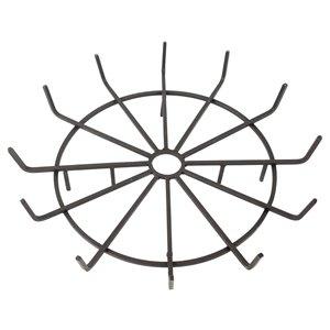 Grille pour bûches en forme de roue de Pleasant Hearth, acier, 32 po