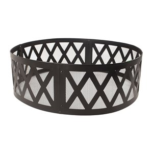 Pleasant Hearth Lattice Fire Ring - Steel - 36-in