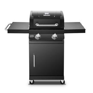 Barbecue au gaz propane à deux brûleurs Dyna-Glo, 24 000 BTU, noir