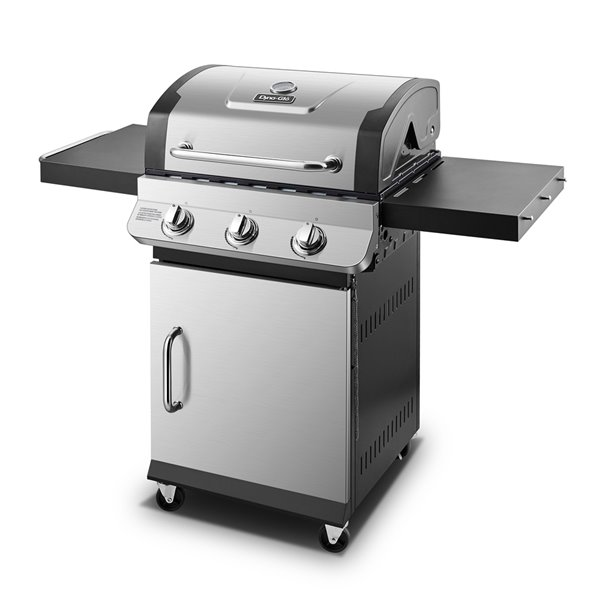 Barbecue au gaz propane à trois brûleurs Dyna-Glo, 36 000 BTU, acier inoxydable