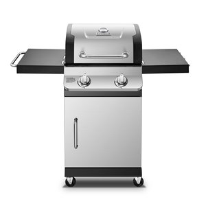 Barbecue au gaz propane à deux brûleurs Dyna-Glo, 24 000 BTU, acier inoxydable