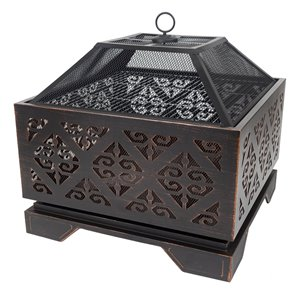 Pleasant Hearth Vienna Fire Pit - Steel - 26-in x 26-in