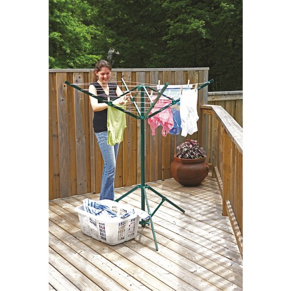 Greenway Portable Outdoor Rotary, Small Round Clothesline