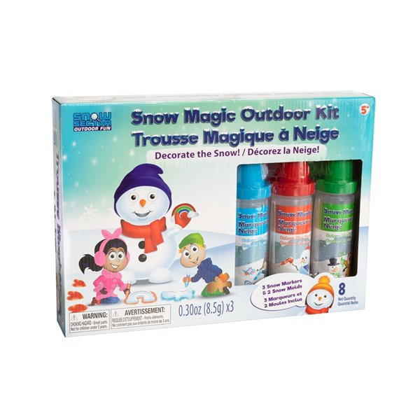 Snow Sector Snow Magic Kit with 2 moulds and 3 Marker Colours